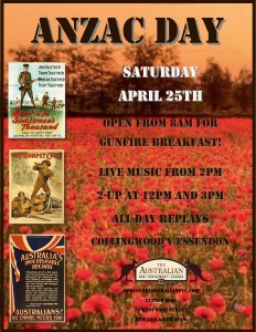 ANZAC DAY Poppies Poster 2015